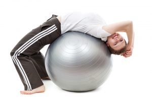 Breathing with Fitness Ball