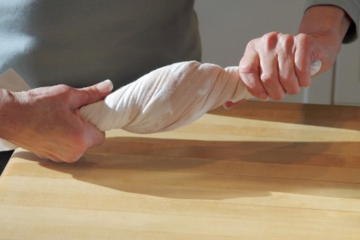 Twisting a towel is a simple, effective way to release anger and anxiety.